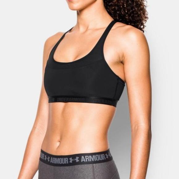 999d6d3961ffc UNDER ARMOUR 🆕 Black Mesh Breathe Sports Bra Top